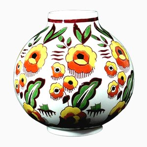 Belgian Art Deco Keramis Vase by Charles Catteau for Boch Freres
