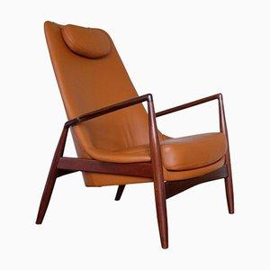 Easy Chair Sarcelle en Cuir par Ib Kofod-Larsen pour OPE, Suède, 1960s