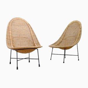 Easy Chairs Stora Kraal par Kerstin Hörlin-Holmquist pour Nordiska Kompaniet, Suède, 1960s, Set de 2