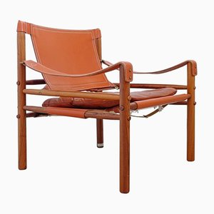 Easy Chair Sirocco Marron de Arne Norell, Suède, 1960s
