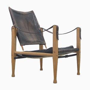Chaise Safari Mid-Century par Kaare Klint pour Rud. Rasmussen