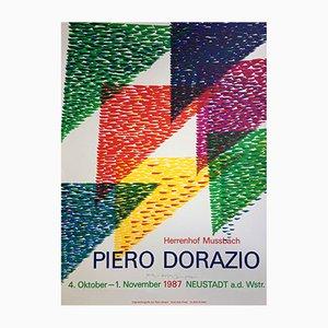 Póster suizo de la exhibición de Piero Dorazio de Erker Press, 1987