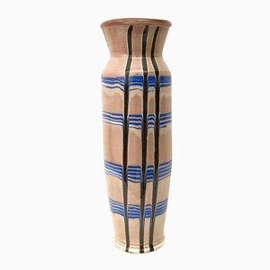 Jarrón vintage de cerámica esmaltada