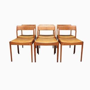 Esszimmerstühle von N.O. Møller für J.L. Møller, 1960er, 6er Set