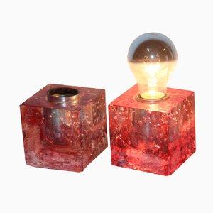Würfelförmige Tischlampen von Poliarte, 1960, 2er Set
