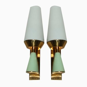 Mid-Century Italian Sconces, 1950, Set of 2