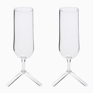 Champagne Tripod Glasses by Maarten Baptist for TH MANUFACTURE, Set of 2