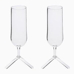 Verres à Champagne Tripod par Maarten Baptist pour TH MANUFACTURE, Set de 2
