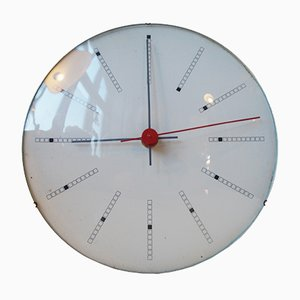 Orologio da parete Bankers di Arne Jacobsen per Gefa, 1971
