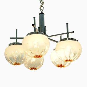 Lampadario vintage con vetro di Murano