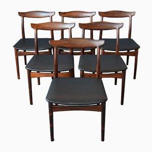 Chaises de Salon Mid-Century en Palissandre par Erik Wørts pour Vamo, Set de 6