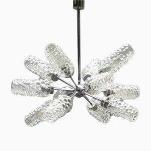 Lámpara sputnik de cristal burbuja de 12 luces, años 70