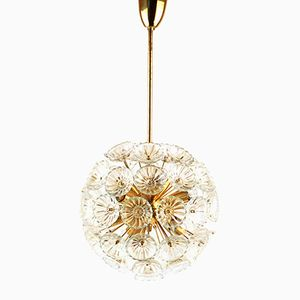 Mid-Century Sputnik Glass Blossems Blowball Chandelier from VEB, 1950s