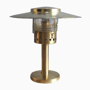 Danish Brass Table Lamp by Holm Sorenson, 1960s