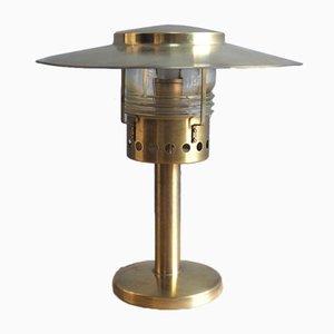 Lámpara de mesa danesa de latón de Holm Sorenson, años 60