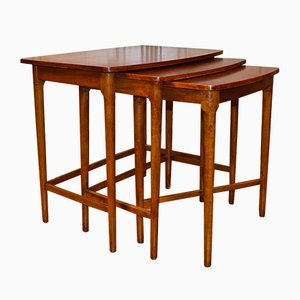 Danish Rosewood Nesting Tables from Fritz Hansen, 1952