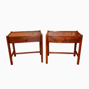 Mid-Century Scandinavian Rosewood Night Stands, Set of 2
