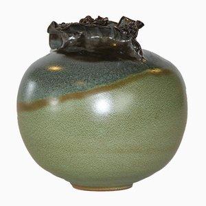 Jarrón danés vintage de cerámica, años 60