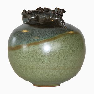 Vase en Poterie Vintage, Danemark, 1960s