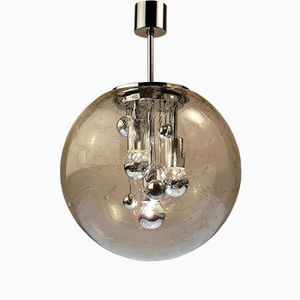 Mid-Century Sputnik Chrome Hanging Lamp from Doria, 1970s