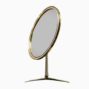 Specchio da toeletta rotondo di Vereinigte Werkstätten, anni '50