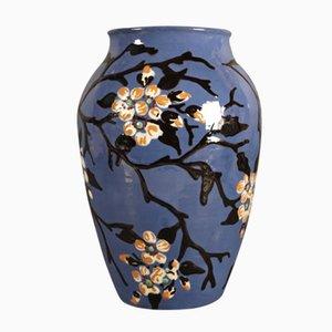 Grand Vase Vintage Art Nouveau en Céramique, France