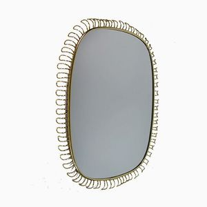 Vintage Brass Loop Wall Mirror by Josef Frank for Svenskt Tenn, 1950s