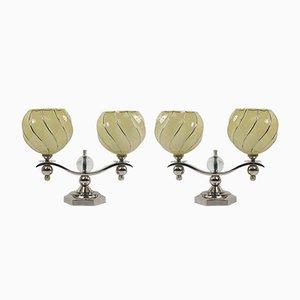 Lámparas de mesa francesas Art Déco, años 30. Juego de 2