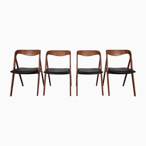 Vintage Teak Dining Chairs from Vamo, Set of 4