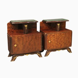 French Bedside Tables, 1950s, Set of 2