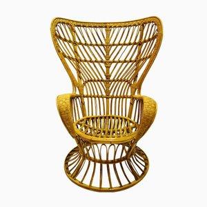 Rattan Armchair by Lio Carminati for Casa e Giardino, 1950s