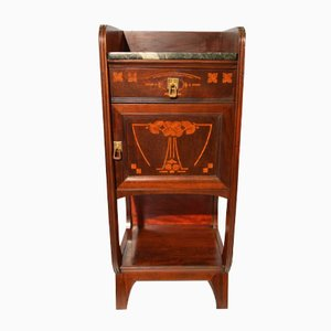 Italian Mahogany Nightstand by Eugenio Quarti, 1900s