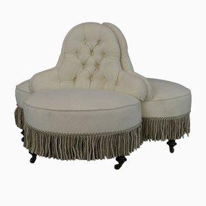 Antikes Viktorianisches Rundes Converstion Sofa