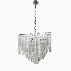Italian Chandelier with Murano Glass by Paolo Venini, 1970s