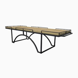 Table Basse Vintage Industrielle Rectangulaire