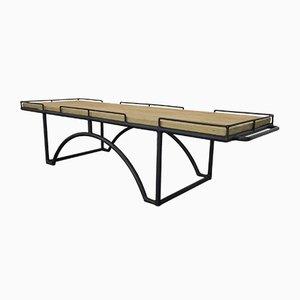 Tavolino da caffè rettangolare vintage industriale