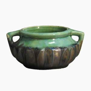 Cuenco Jugendstil de cerámica pintada a mano de Gilbert Méténier