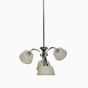 Lámpara de araña vintage de latón, años 40
