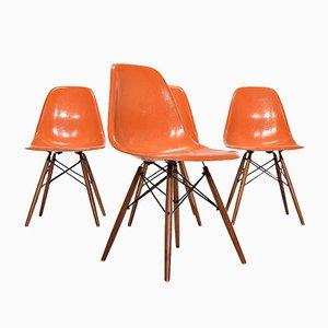 DSW Chairs by Charles & Ray Eames for Herman Miller, 1960, Set of 4