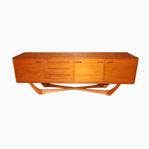 Mid-Century Scottish Cross-Base Sideboard from Beithcraft