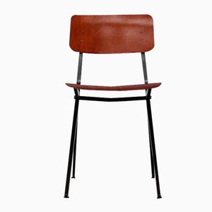 Mid-Century Industrial Compass Leg Dining Chair from Marko