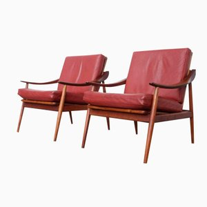 Mid-Century Model 301 Lounge Chairs by Kurt Ostervig for Jason Møbler, Set of 2