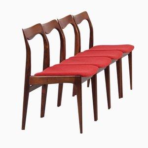 Palisander Esszimmerstühle von AWA, 1960er, 4er Set