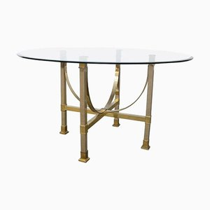 Brass & Glass Dining Table from Maison Jansen