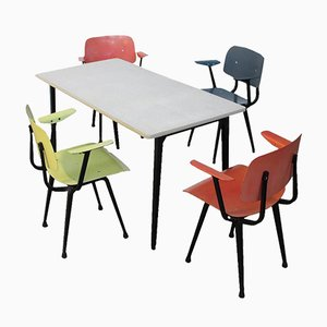 First Edition Revolt Dining Room Set by Friso Kramer, 1953
