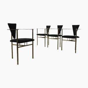Esszimmerstühle von Maison Jansen, 4er Set