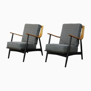 Easy Chairs by Hvidt & Mølgaard-Nielsen for France & Daverkosen, 1950s, Set of 2