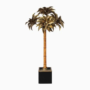 Large Vintage Palm Tree Floor Lamp from Maison Jansen