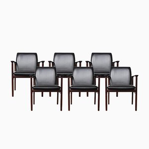 Rosewood Conference Chairs by Arne Vodder for Sibast, 1960s, Set of 6