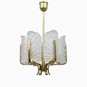 Lámpara sueca vintage de vidrio de Orrefors